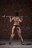 Sexy atletische vrouw Stock Afbeelding