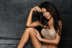 Sexy attractive brunette woman Royalty Free Stock Photos