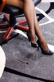 Sexy and attractive business woman legs Royalty Free Stock Photos