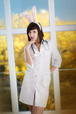 Sexy attractive nurse Royalty Free Stock Photo