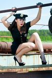 attractive police woman Stock Photos