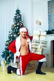 Attractive dancer Santa Stock Photography