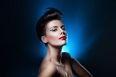 Sexy attractive woman with red lips Royalty Free Stock Photos