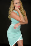 Sexy attractive young Woman Wearing a Short Tight Mini Dress Royalty Free Stock Image