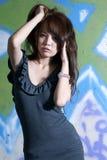 Sexy Aziatisch meisjesportret Royalty-vrije Stock Afbeeldingen