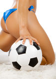 Sexy back and ball Royalty Free Stock Photos