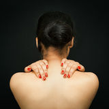 Sexy back of young Asian woman. Stock Photos