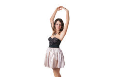 Sexy ballerina in a corset posing Royalty Free Stock Image
