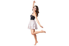 ballerina in a corset posing Royalty Free Stock Image