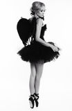 ballerina dancer girl with blond hair in luxurious dancing clothes Stock Photos