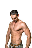 Chested man Stock Images