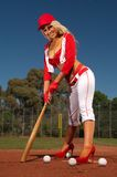 Sexy baseball girl Stock Images