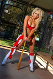Sexy baseball girl Royalty Free Stock Photos