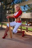 Sexy baseball girl Royalty Free Stock Image