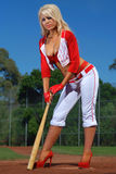 Sexy baseball girl Stock Photo