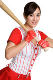 Sexy Baseball Girl Royalty Free Stock Photo