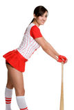 Sexy Baseball Woman. Isolated sexy asian baseball woman Royalty Free Stock Photography