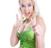 Sexy bavarian blonde Stock Photo