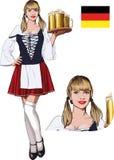 Sexy bayerisches Mädchen Lizenzfreies Stockfoto