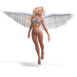 Sexy and beautiful angel with wings Royalty Free Stock Image