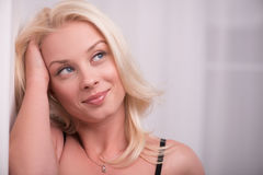 Sexy beautiful blond girl in underclothes Royalty Free Stock Images