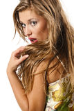 Sexy and beautiful blond woman Stock Images