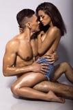 Sexy beautiful couple Royalty Free Stock Photography