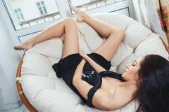 Sexy beautiful girl Stock Photography