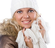 Sexy beautiful girl in white hat Stock Images