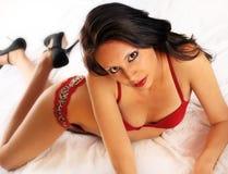 Sexy beautiful lingerie model Stock Photo