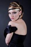 Sexy beautiful makeup artist Stock Photography