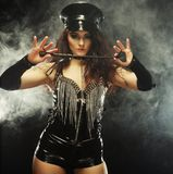 Sexy beautiful police woman Stock Photography