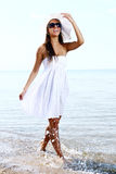 Sexy and beautiful woman on beach Stock Photo