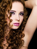 beautiful  woman with beauty hairs Stock Images