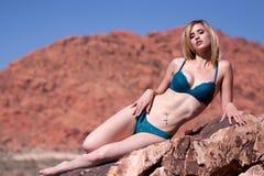 Sexy beautiful woman in bikini Stock Photography