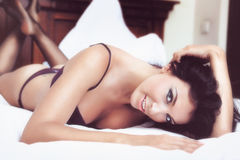 Sexy beautiful woman in lingerie Stock Images