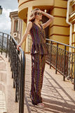 Beautiful woman walk on the city street building fashion. Luxury style for party date glamour pose summer clothes collection brunette hair accessory model wear royalty free stock photos
