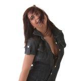 Sexy, beautiful, young woman dancing stock photography