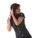 Sexy, beautiful, young woman dancing Royalty Free Stock Photos