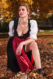 beautiful young woman in a dirndl Stock Images