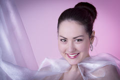 Amazing woman with beauty face and smile Stock Photography