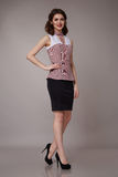 beauty business woman in fashion dress perfect slim body Royalty Free Stock Photo