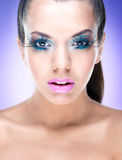 Sexy Beauty Girl with Fantasy makeup Royalty Free Stock Photo