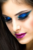Sexy Beauty Girl with Fantasy makeup Stock Photo