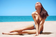 Sexy beauty relax on sea Stock Photography