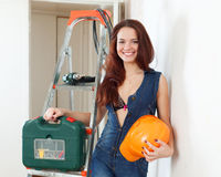 Sexy beauty woman with hardhat Stock Photo