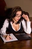 Sexy bedrijfsvrouw. stock afbeelding