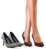 Sexy benen en schoenen. stock afbeelding
