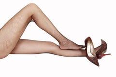 Sexy benen in kousen royalty-vrije stock foto