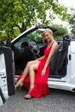 Sexy bestuurder stock afbeeldingen